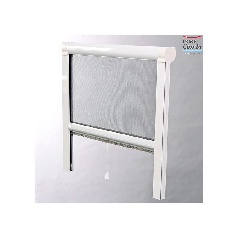 Moustiquaire enroulable moustikit en aluminium pour fen tre - Moustiquaire porte fenetre coulissante ...