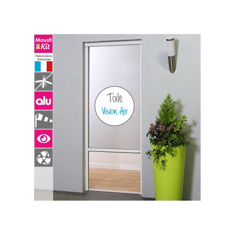 store moustiquaire recoupable vision air moustikit en aluminium pour porte. Black Bedroom Furniture Sets. Home Design Ideas