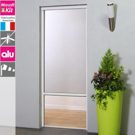 store moustiquaire recoupable moustikit en aluminium pour porte. Black Bedroom Furniture Sets. Home Design Ideas