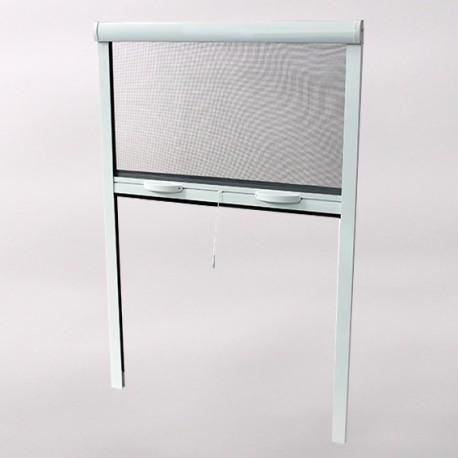 Moustiquaire enroulable ALU Fenêtre H 145 cm x L 125 cm ajustable coloris Blanc