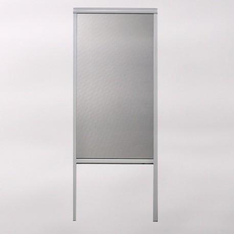 Moustiquaire enroulable Porte ALU H230 cm x L140 cm ajustable, coloris Blanc