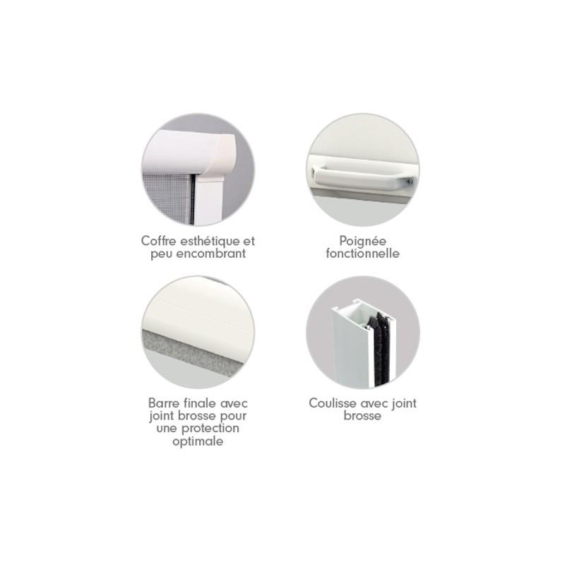 prix attractif pour cette moustiquaire enroulable pvc pour fen tre. Black Bedroom Furniture Sets. Home Design Ideas