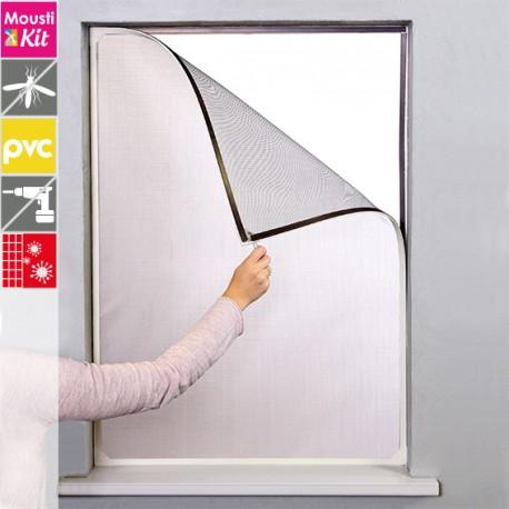 Moustiquaire cadre magnétique ANTIPOLLEN OPTIMA 120 x 100 cm coloris Blanc par Moustikit