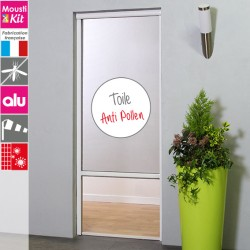 Moustikit Enroulable Verticale H230 cm x L 125 cm BLanc pour Porte-Fenêtre